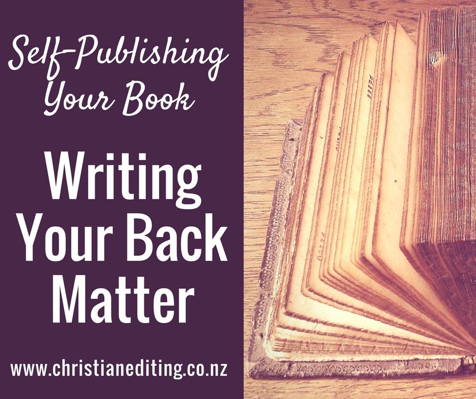 Back Matter or End Matter