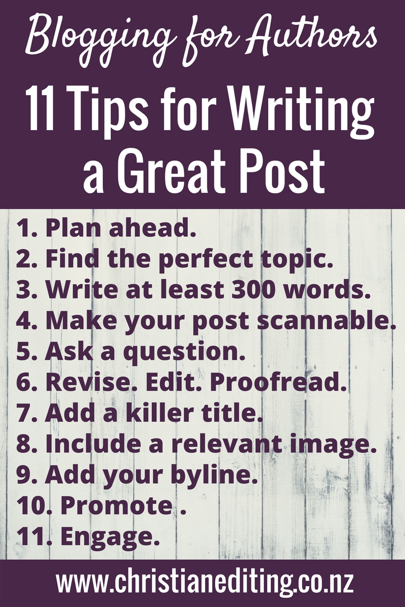 11 Tips for Writing a Great Blog Post