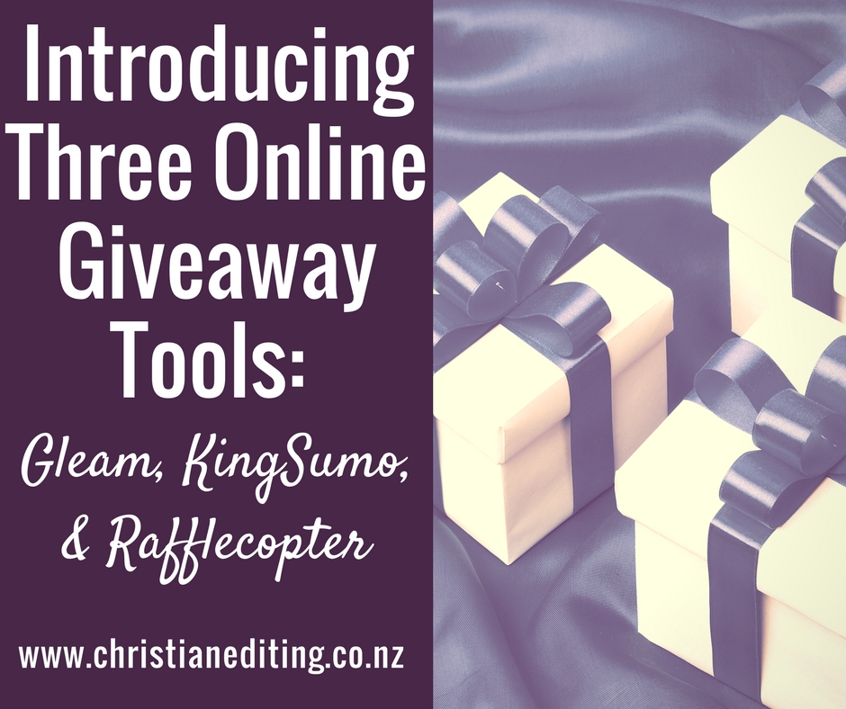 Introducing Three Online Giveaway Tools: Gleam, KingSumo, and Rafflecopter