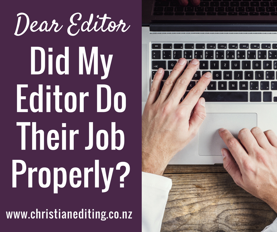 Dear Editor | Did My Editor Do Their Job Properly?