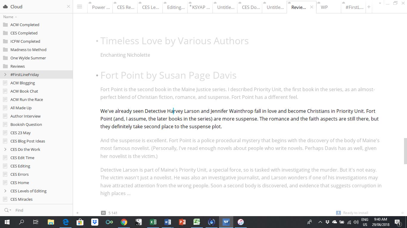 Screenshot from Write!