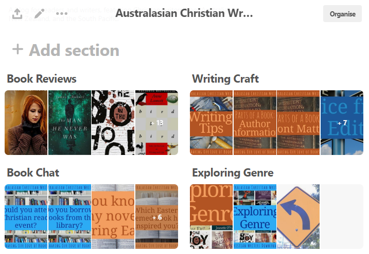Illustration of Pinterest Board sections