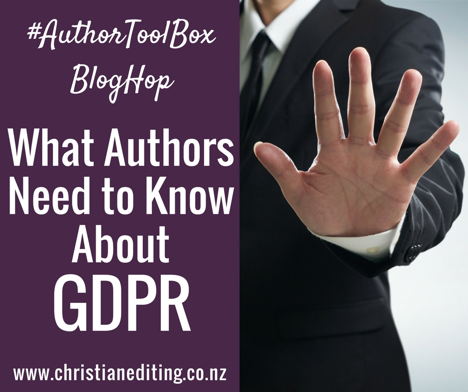 What Authors Need to Know about GDPR (General Data Protection Regulation)