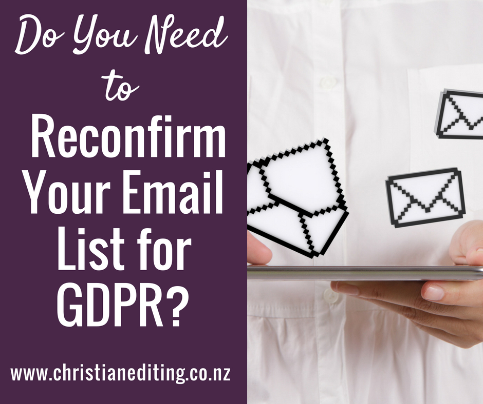 Do you need to reconfirm your email list for GDPR?