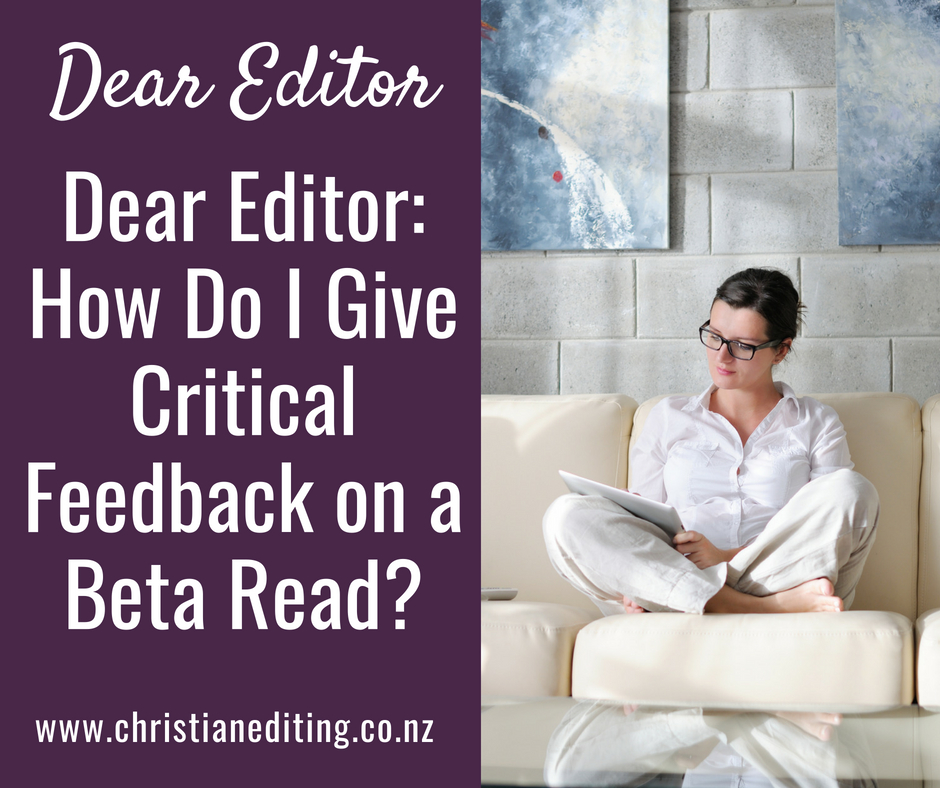 Giving feedback on a beta read