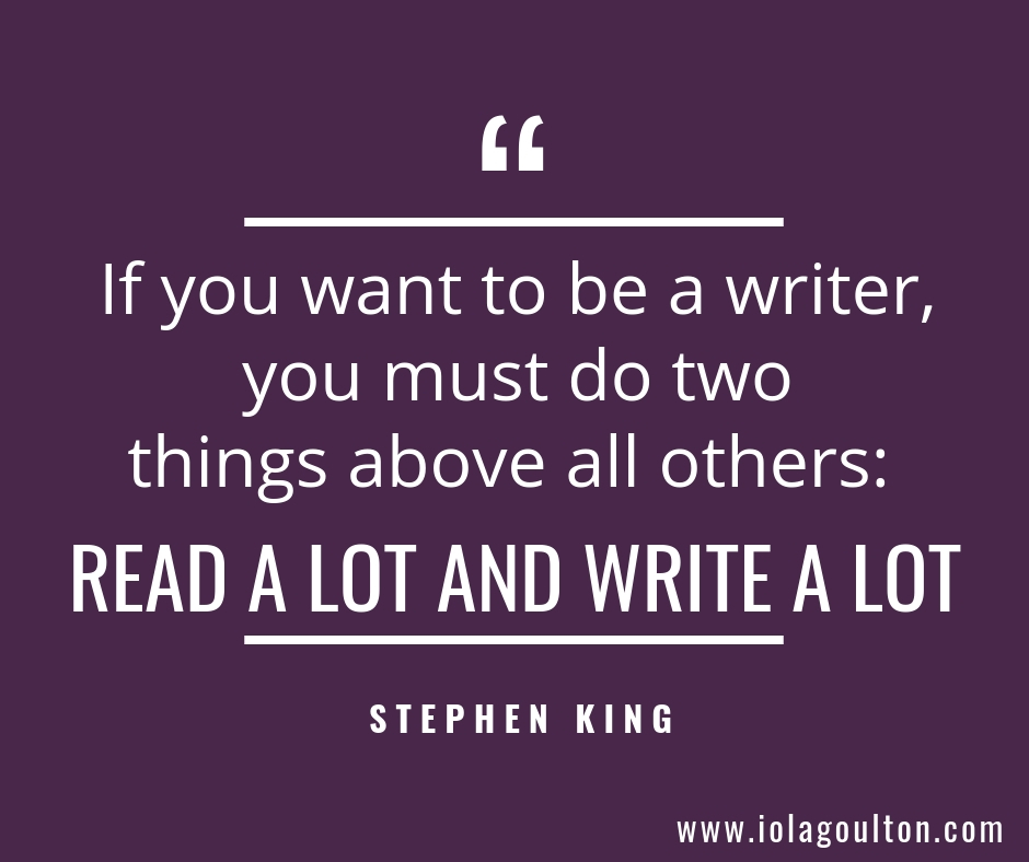 If you want to be a writer, you must do two things above all others: read a lot and write a lot - Stephen King