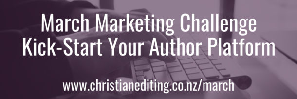March Marketing Challenge Kick-Start Your Author Platform